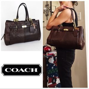 Coach Distressed Chestnut Brown Jayden Satchel Bag